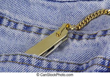Gold Pocket Knife - Photo of a Gold Pocket Knife