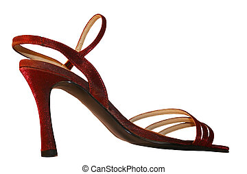 Red stiletto - A sexy, red,sparkly, stiletto shoe