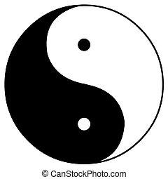 yin and yang - The yin and yang symbol