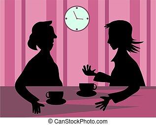 Gossip - women gossiping