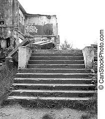 Nowhere Stairs - Steps leading to nothing but rubble. In the...