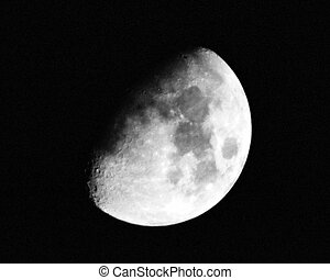 Half Moon - A 1300mm shot of the moon.