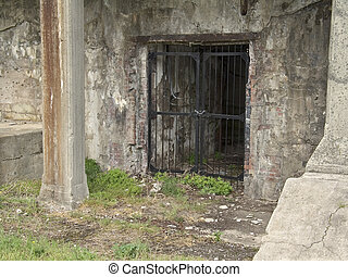 Dungeon - This is a shot of a prison cell at an old military...