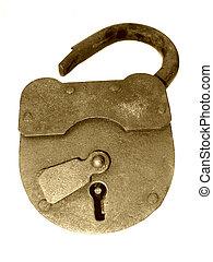 Vintage lock 2 - Old isolated lock