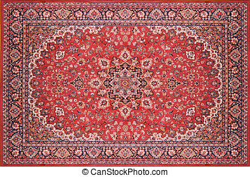 Persian Rug Carpet - Full view of a persian rug carpet from...