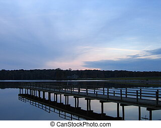 Pier - Dock in Natchez State Park Lake