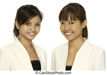 Can We Help? - Two attractive helpful asian women