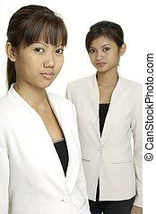 asiático, mujeres
