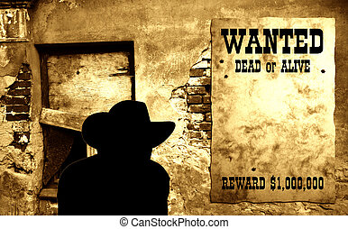 Wild West scene [2] - Wild West scene - stylized poster on...