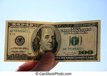 100 dollars banknote - Checking 100 dollars banknote. In...