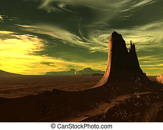 Alien Rock - 3D rendered scifi scenery.