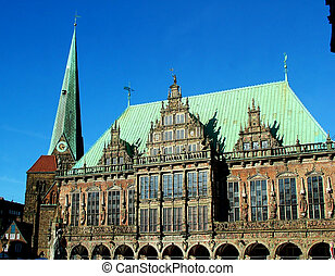 Guildhall in Bremen - Digital photo of the famous guildhall...