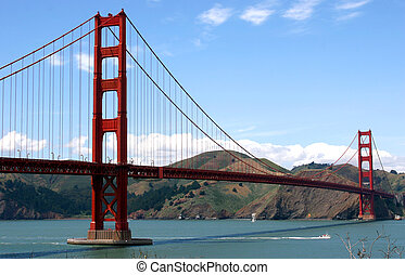 The Golden Gate Bridge view from the south battery