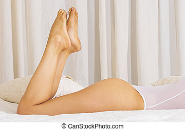 Feet and bottom 2 - Womans feet and bottom