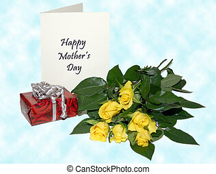 Mothers day greeting - Celebrate mum with gifts and flowers...