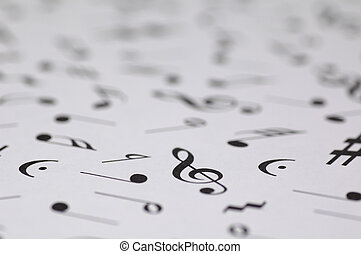 Musical Notes Background - Various Musical Notes -...