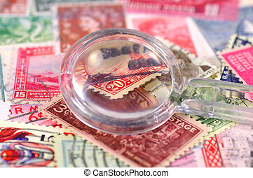 Stamp Collecting 3 - Stamps and A Magnifying Glass
