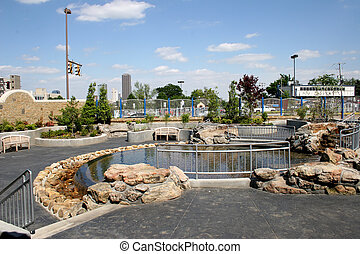 ACH Hospital - Fountain and park area just outside main...