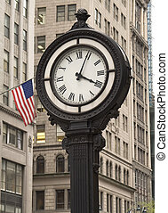 City Clock - This is a shot of a classic style clock on...