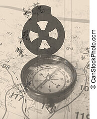 Compass Old Outlook - Old Outlook of a Compass with a road...