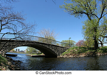 Bridge in a park in Boston