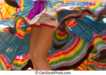 Dancing legs - Colorful dancing legs