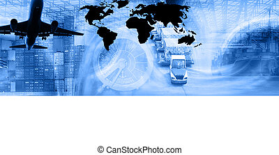 Freight Template-Blu - Photo montage of freighttransport...