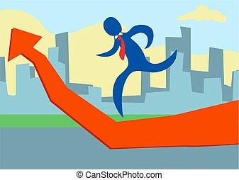 Progress - business concept illustration