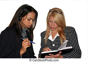 Business meeting - businesswoman having a meeting about...