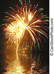 Fireworks Finale - A beautiful fireworks display is captured...