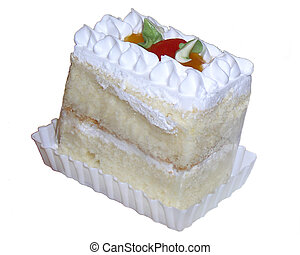 Its a piece of cake - A piece of cake on white BG