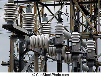 Power substation - Detail of electrical power substation