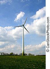 Wind wheel - Digital photo of a wind wheel.