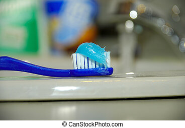 Toothbrush and Paste - Toothbrush WIth Toothpaste