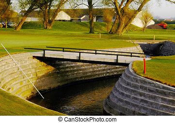 Course brook - The brook running through carnoustie golf...