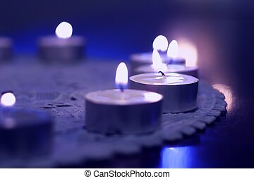 Tealights - picture of tealights with bluish tint