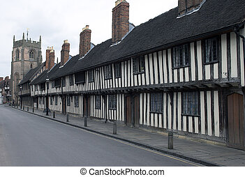 alms houses - historic alms, poor houses, dating back to the...