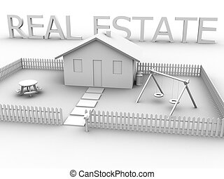 Real Estate House 2 - 3d rendered image of a house with the...