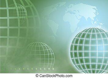 Grid Globe - globe background