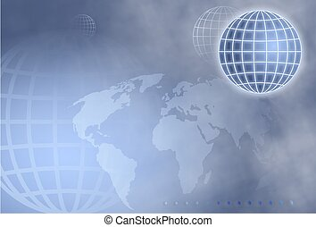 Grid Globe - background design