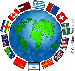 Flag Planet - world globe with flags