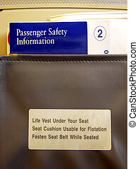 Airline Seat Info - This photo was taken inside a commercial...