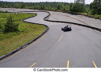 Go Cart track - Go cart on an outdoor track