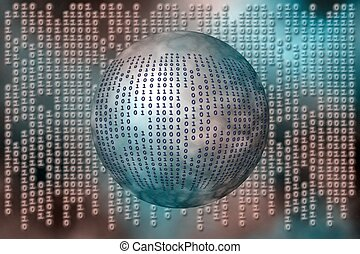 Data, binary code. - A free interpretation of data over the...