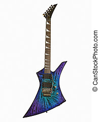 Electric Guitar 2 - Unusually contoured electric guitar with...