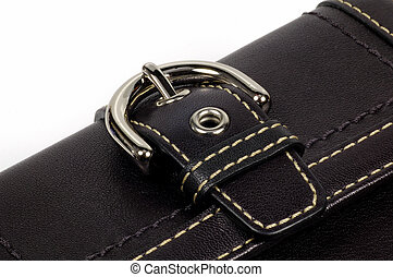 Leather Wallet With Chrome Buckle