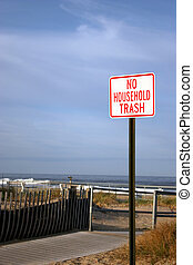 No Household Trash Sign - NJ Shore - No Dumping Of Household...