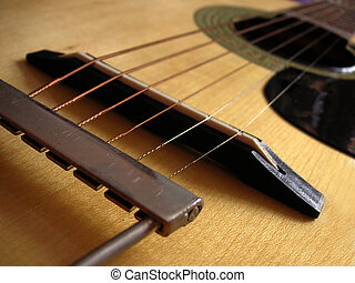 classical guitar string and bridge details