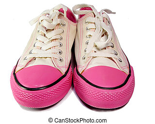Sport Shoes - sport shoes over white background