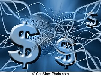 Dollar - A free interpretation of money transfer over the...